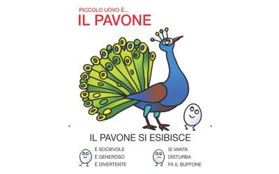 Il pavone rappresenta la voglia di mettersi in mostra: la creatività, il desiderio di essere apprezzati dagli altri e di condividere le proprie emozioni. Ma anche la mancanza del senso della misura, l'esibizionismo e la superficialità.